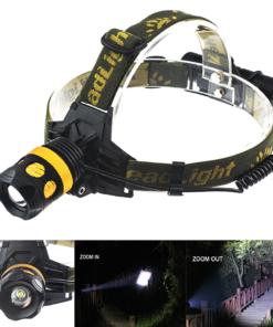 Lanterna Cabeça, Capacete e de Mão XML T6 Led Cree 2000 Lumens