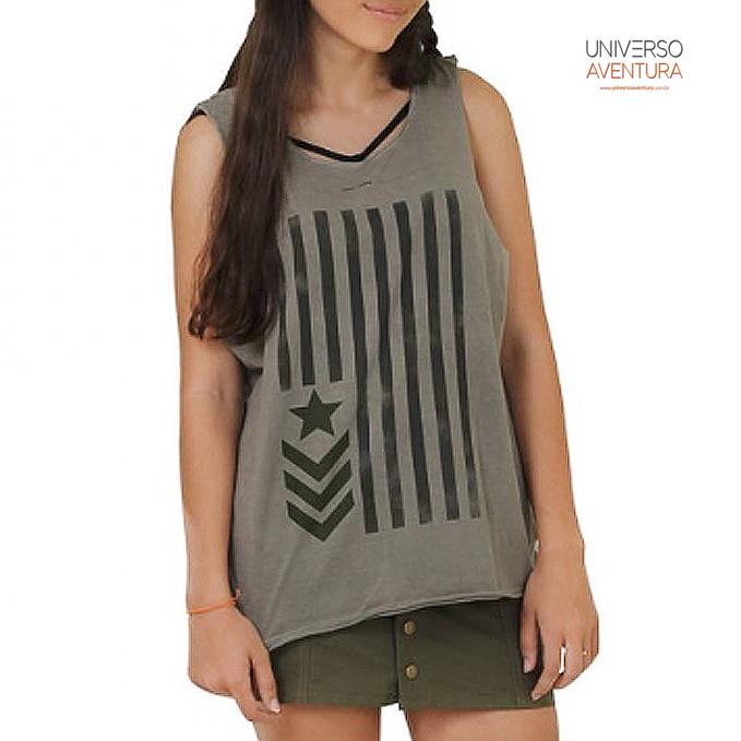 e29bc405a1 Camiseta Regatão Militar Feminino – Treme Terra – Universo Aventura ...